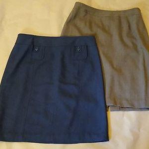 Set of 2 Loft wool/blend pencil skirts